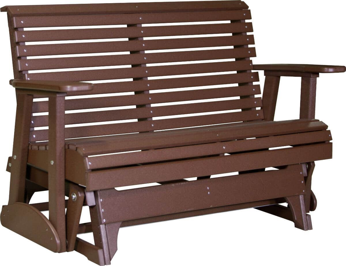 Chestnut Brown Cape Lookout Patio Glider Bench