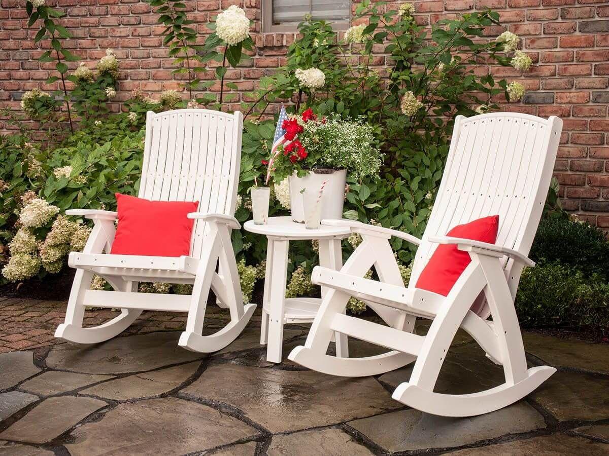 Fire Island Rockers and Rockaway Outdoor Side Table