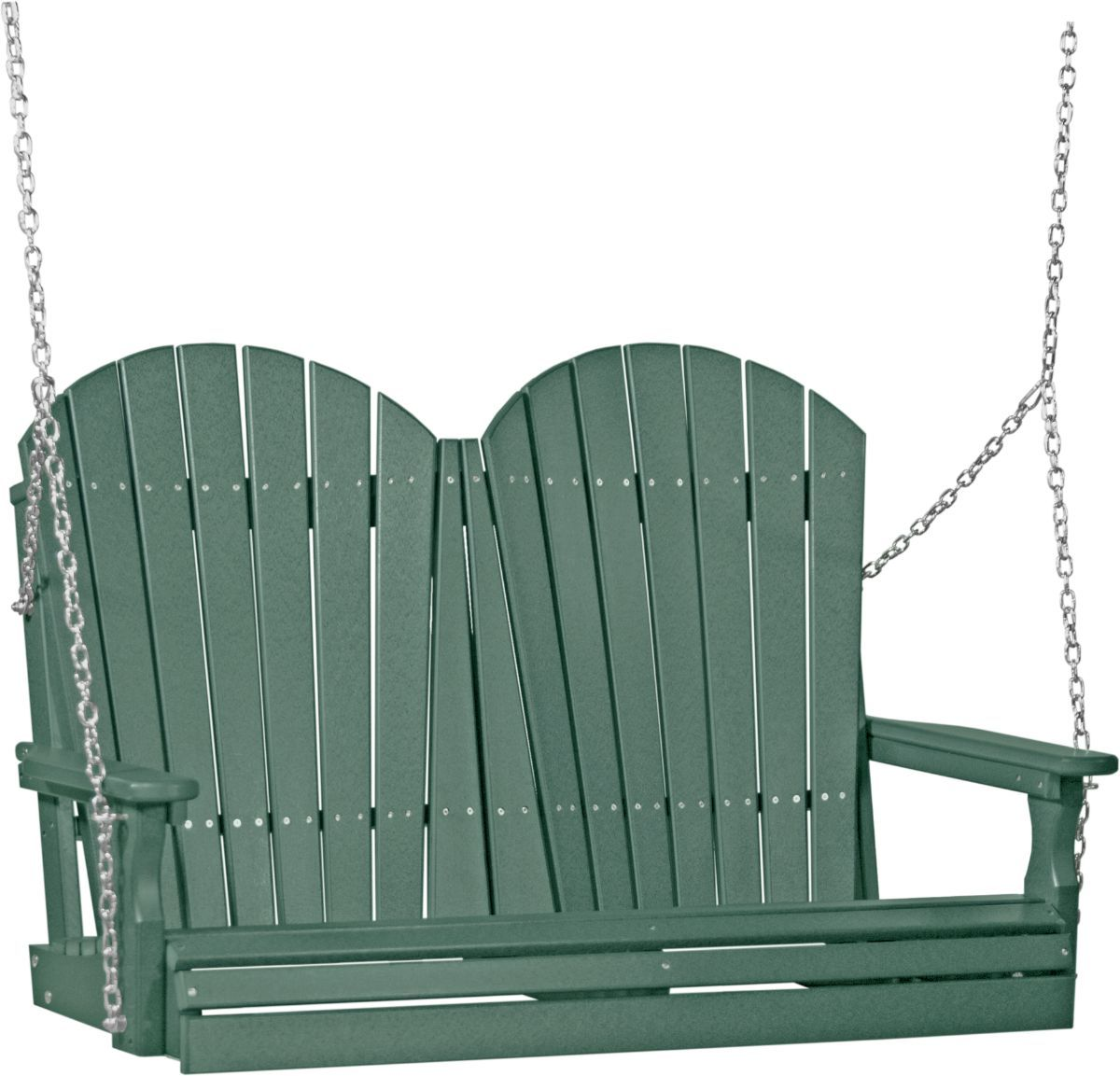 Green Tahiti Adirondack Porch Swing