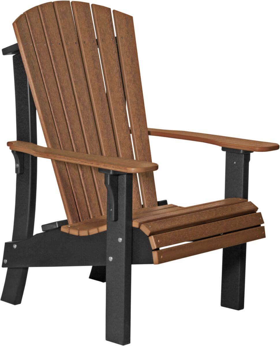 Antique Mahogany and Black Rockaway Highback Adirondack Chair