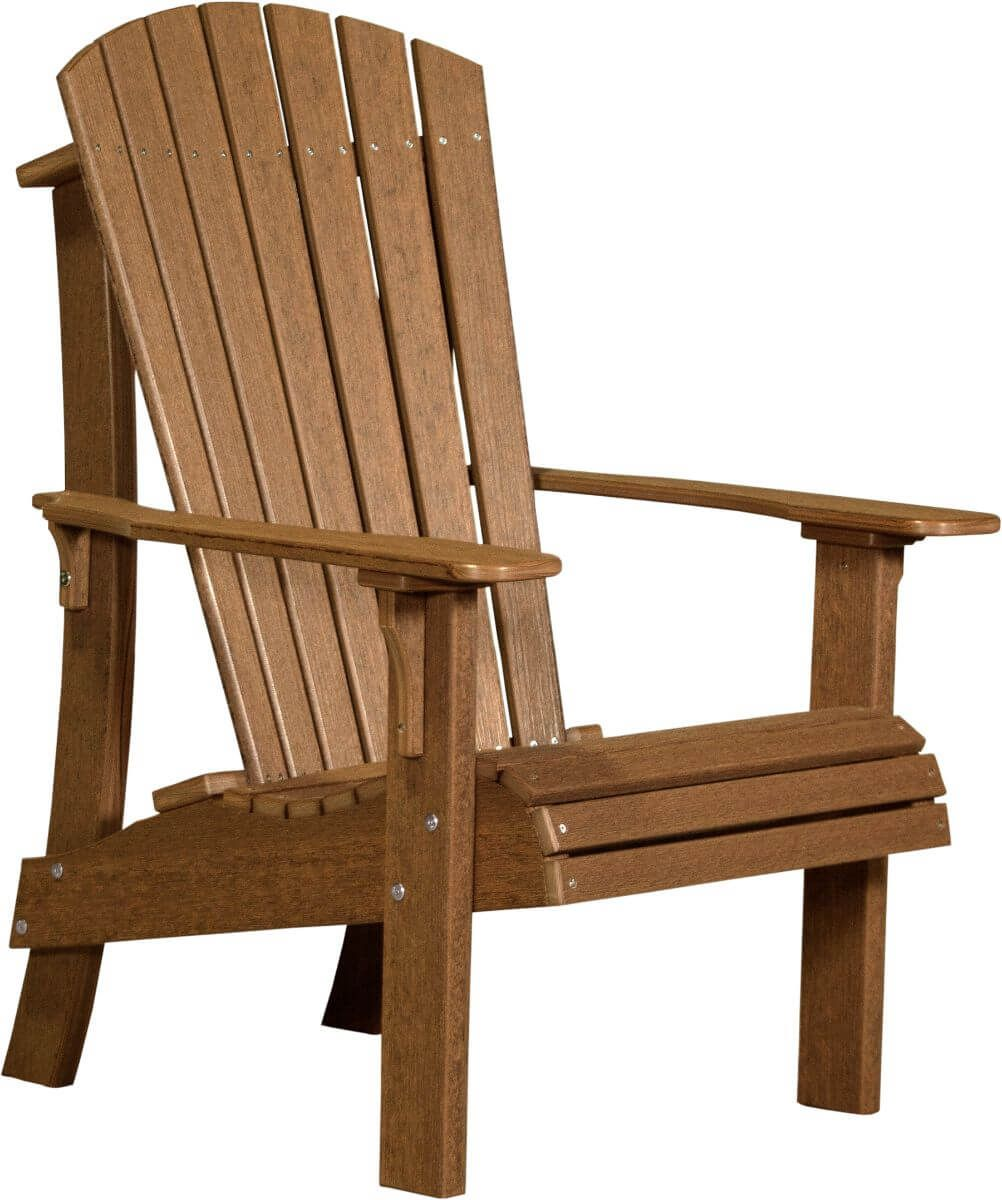Antique Mahogany Rockaway Highback Adirondack Chair