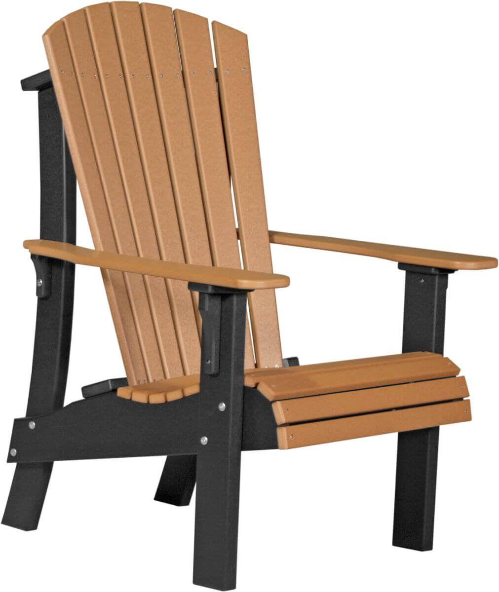 Cedar and Black Rockaway Highback Adirondack Chair