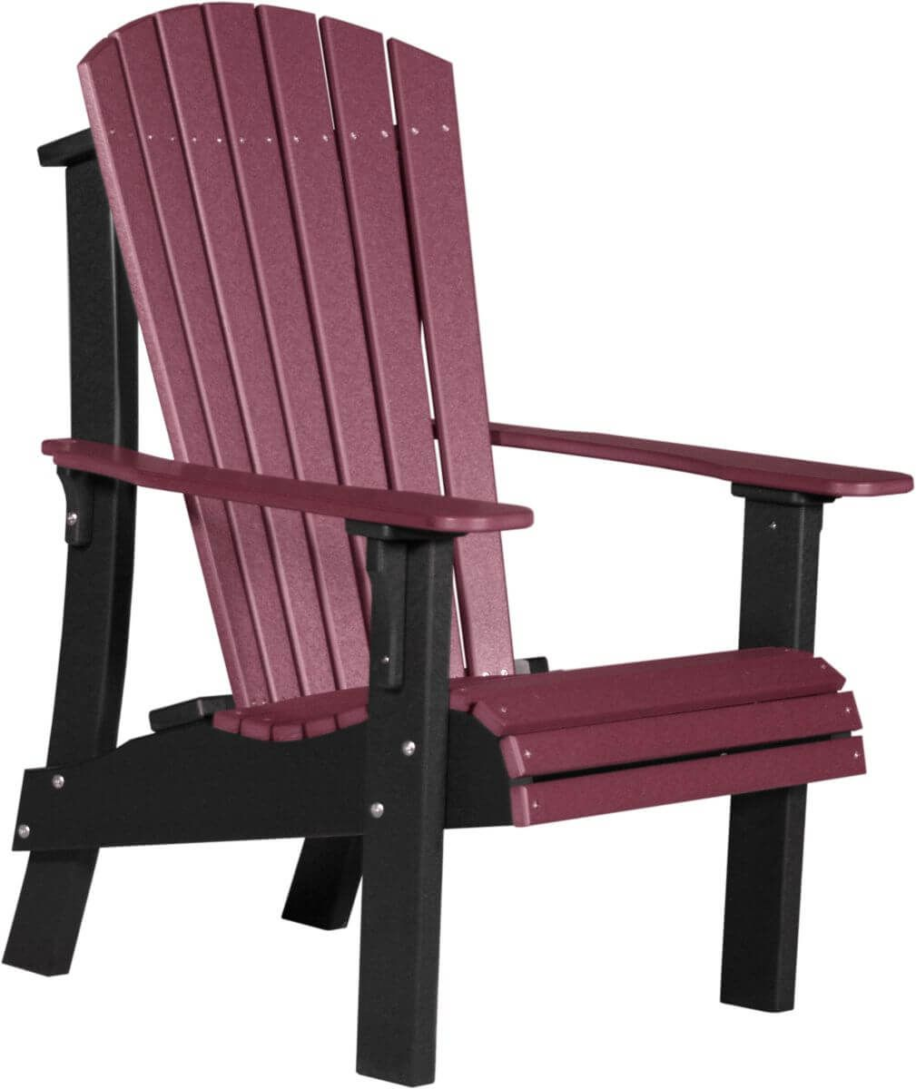 Cherrywood and Black Rockaway Highback Adirondack Chair