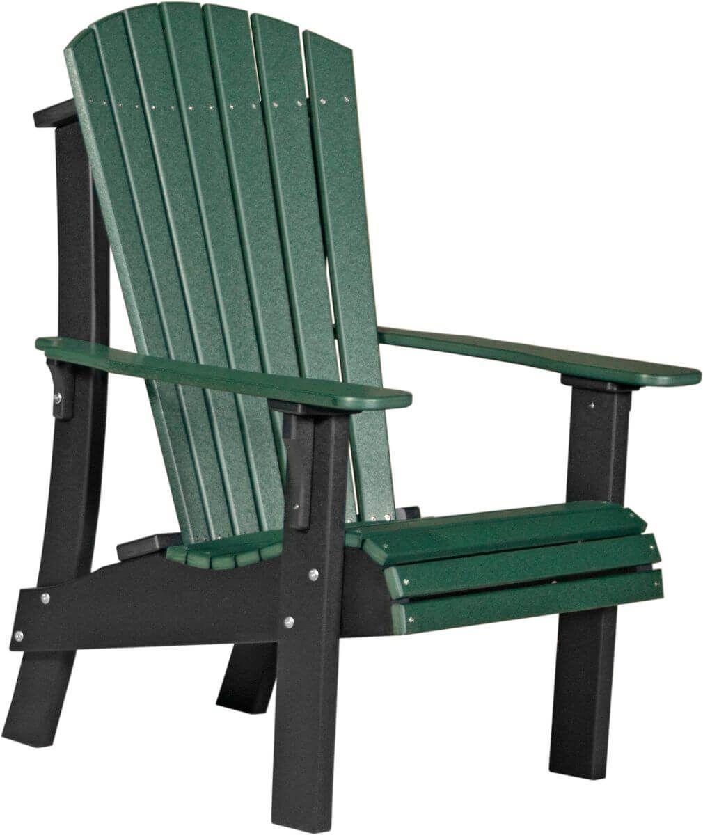 Green and Black Rockaway Highback Adirondack Chair