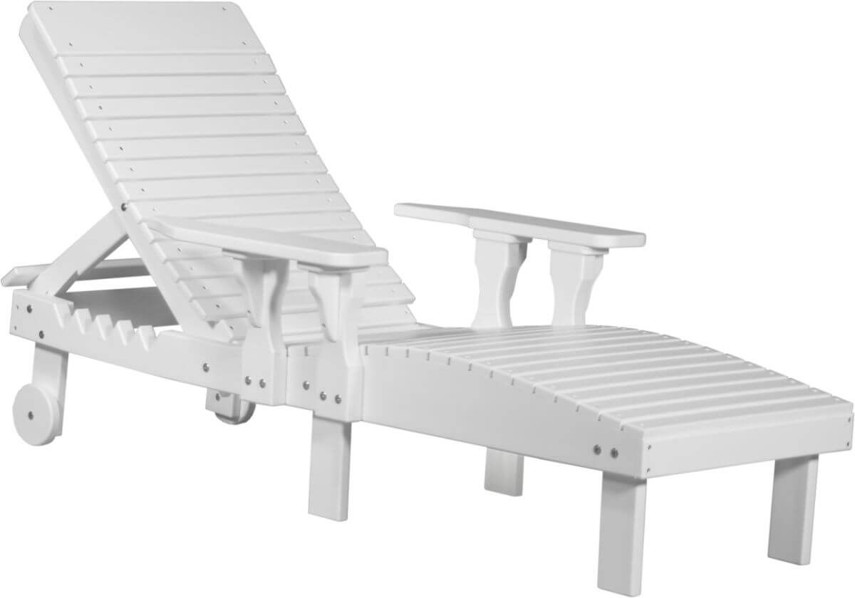 White Pigeon Point Poly Lounge Chair