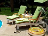 Pigeon Point Poly Lounge Chairs with Cushions