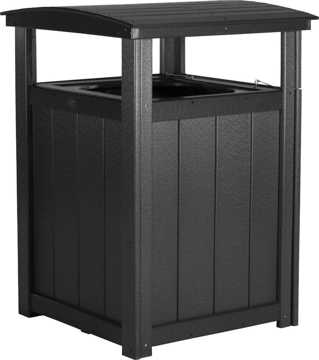Black Pigeon Point Commercial Outdoor Trashcan