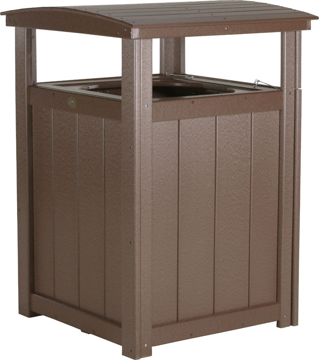 Chestnut Brown Pigeon Point Commercial Outdoor Trashcan