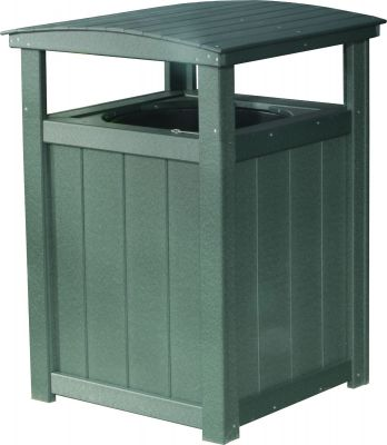 Green Pigeon Point Commercial Outdoor Trashcan