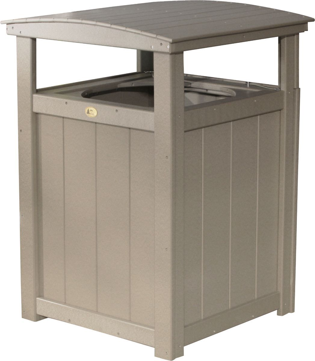 Weatherwood Pigeon Point Commercial Outdoor Trashcan