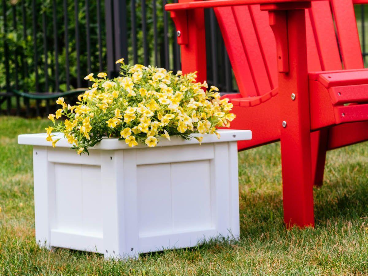 White Poly Lumber Planter Box