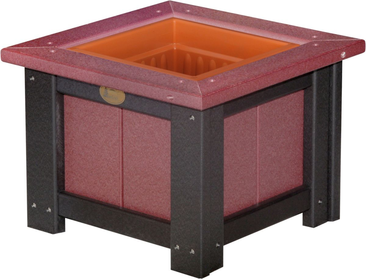 Cherrywood and Black Pigeon Point Commercial Outdoor Planter