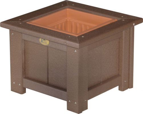 Chestnut Brown Pigeon Point Commercial Outdoor Planter