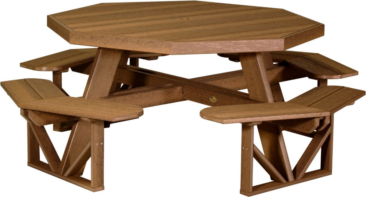Antique Mahogany Portstewart Poly Picnic Table