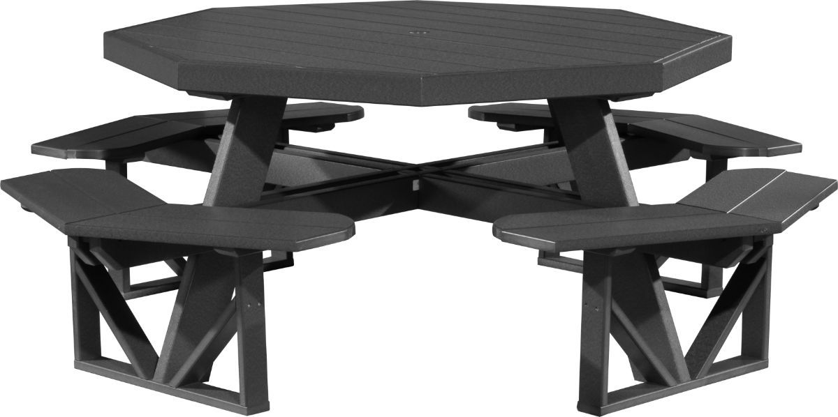 Black Portstewart Octagon Picnic Table