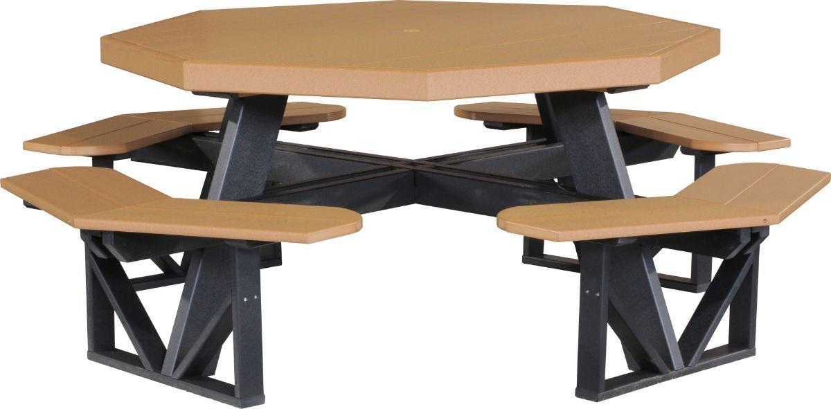 Cedar and Black Portstewart Octagon Picnic Table