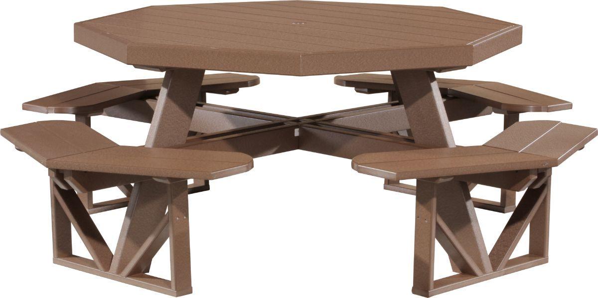 Chestnut Brown Portstewart Octagon Picnic Table