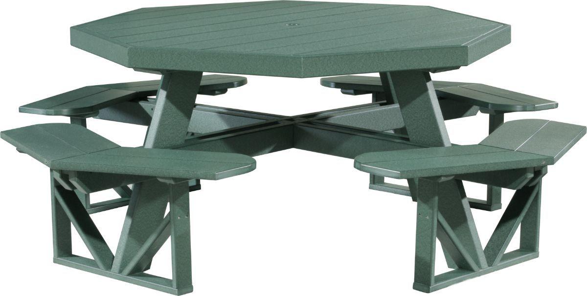 Green Portstewart Octagon Picnic Table