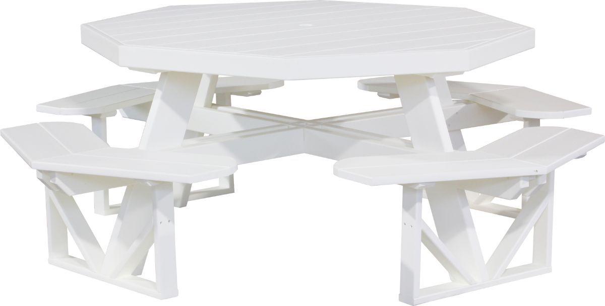 White Portstewart Octagon Picnic Table