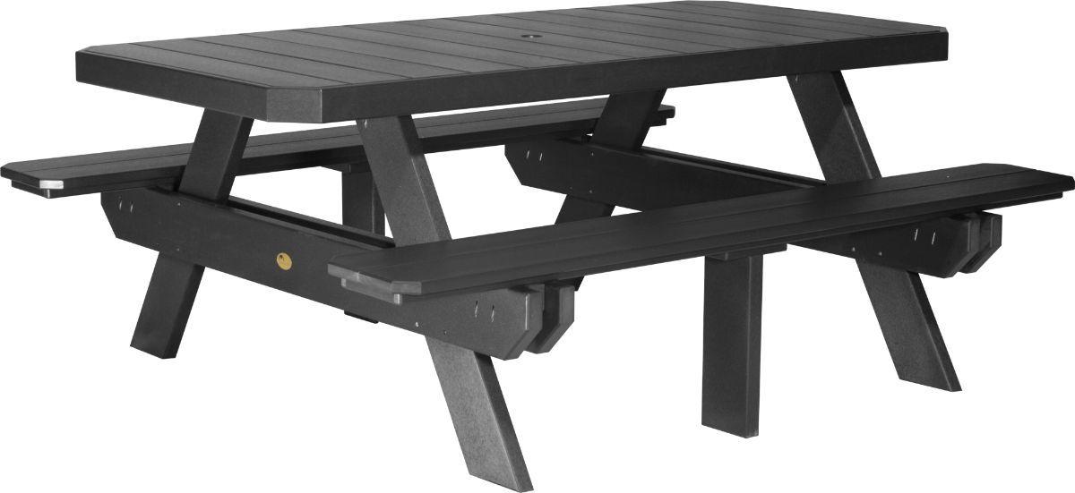 Black Portstewart Poly Picnic Table