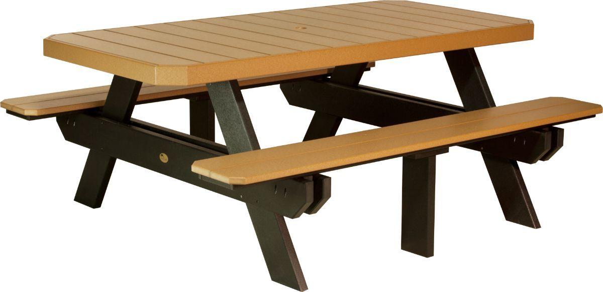 Cedar and Black Portstewart Poly Picnic Table