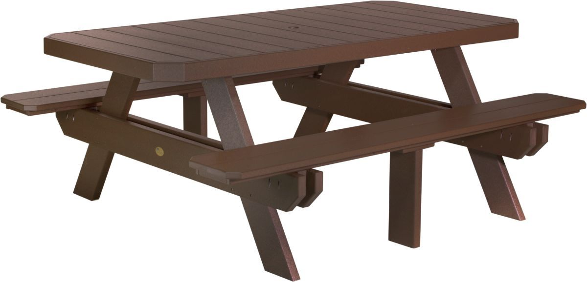 Chestnut Brown Portstewart Poly Picnic Table