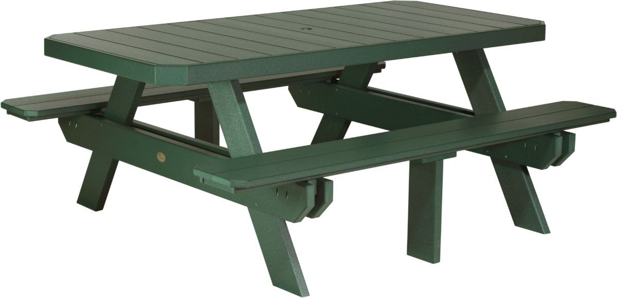 Green Portstewart Poly Picnic Table