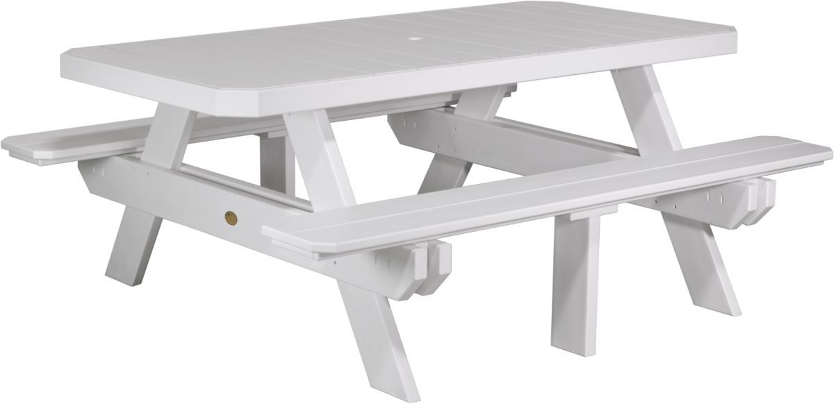 White Portstewart Poly Picnic Table