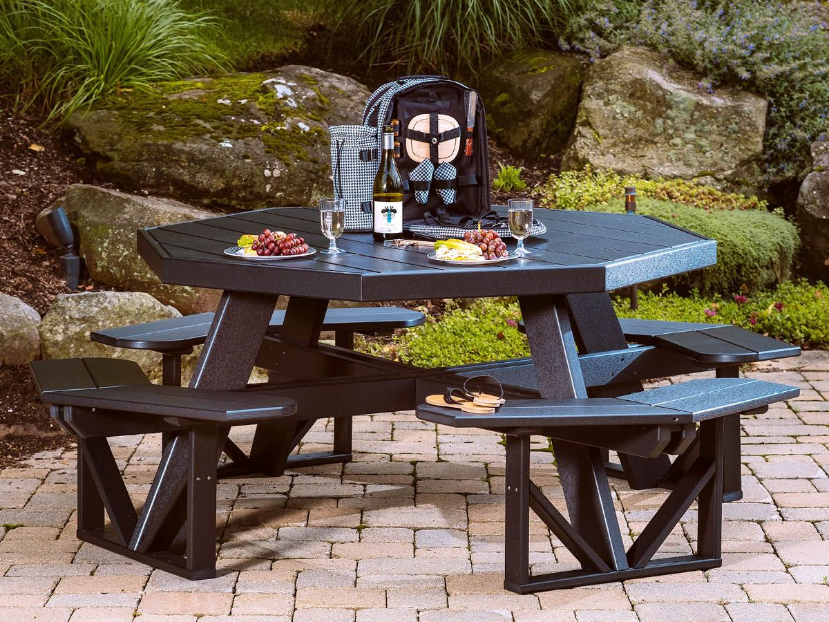 Eco-Friendly Poly Commercial Picnic Table