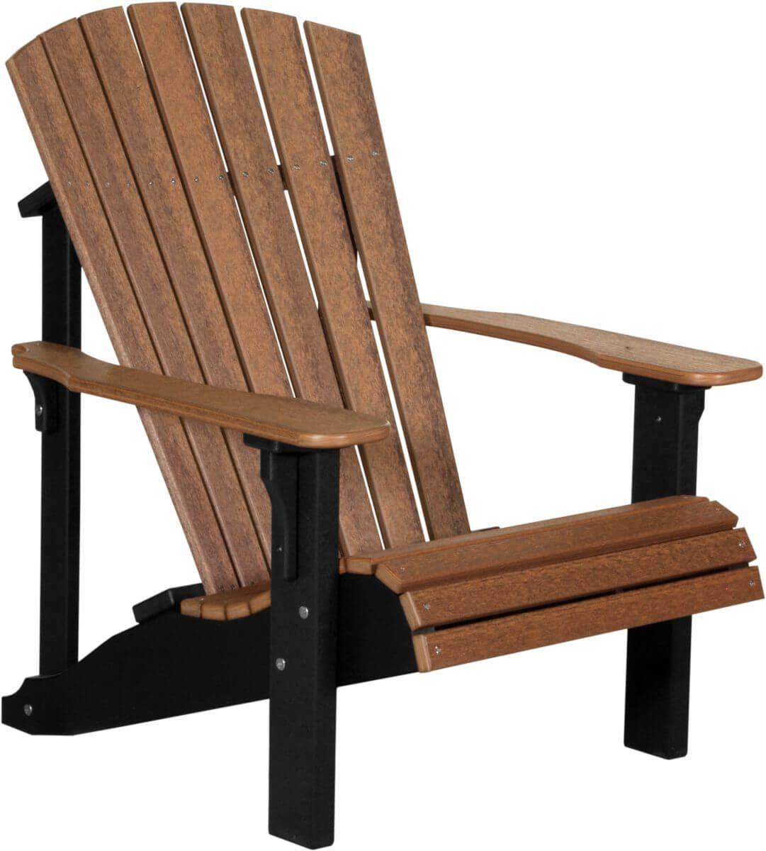 Antique Mahogany and Black Rockaway Adirondack Chair