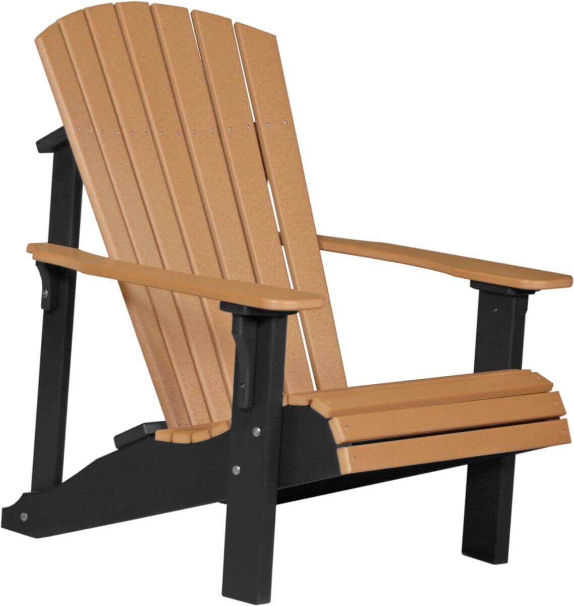 Cedar and Black Rockaway Adirondack Chair