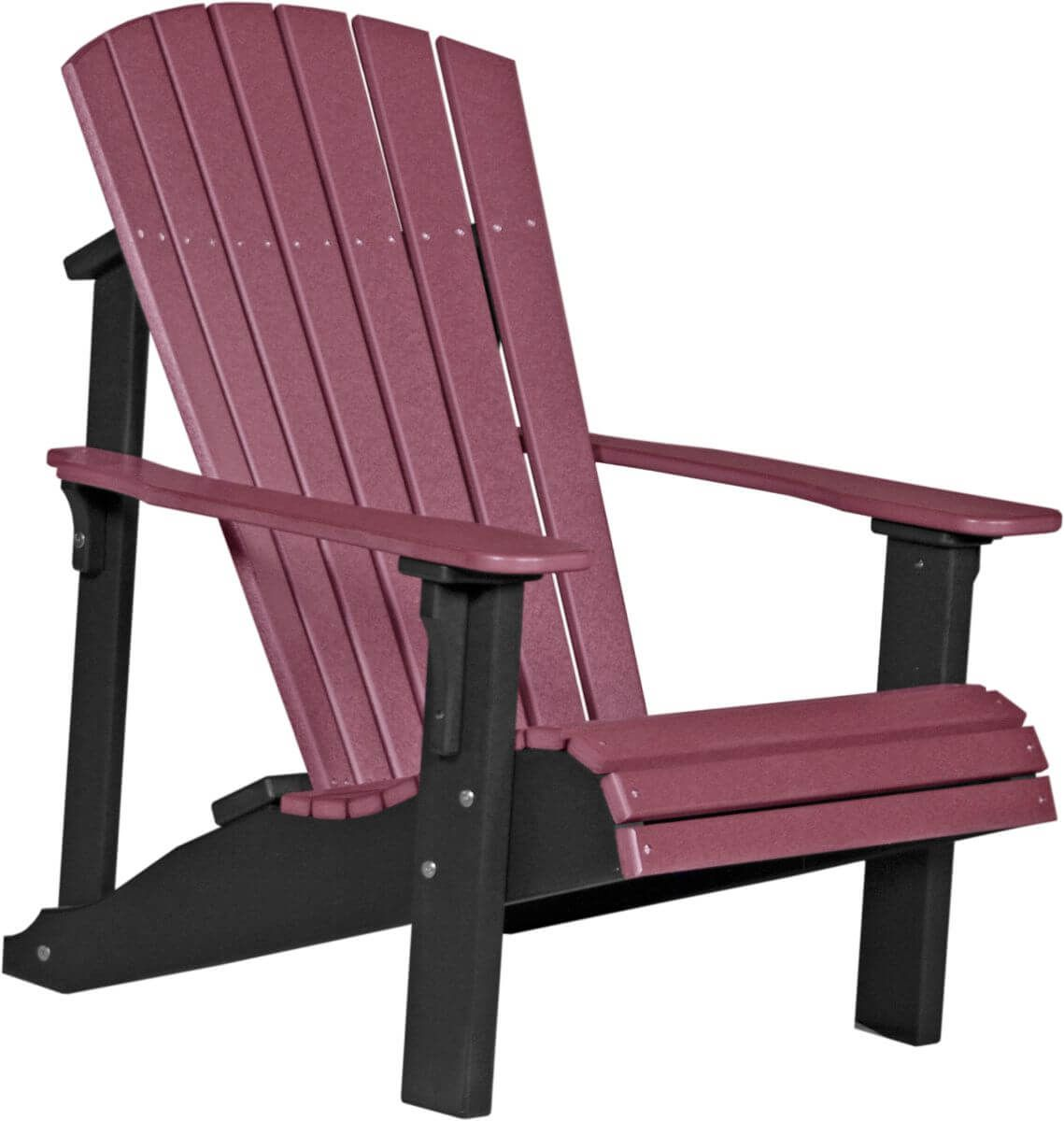 Cherrywood and Black Rockaway Adirondack Chair