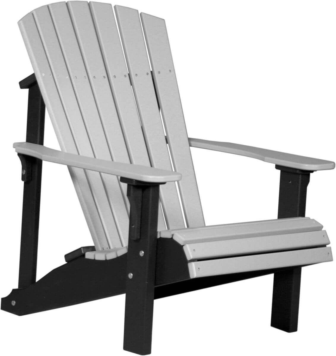 Dove Gray and Black Rockaway Adirondack Chair