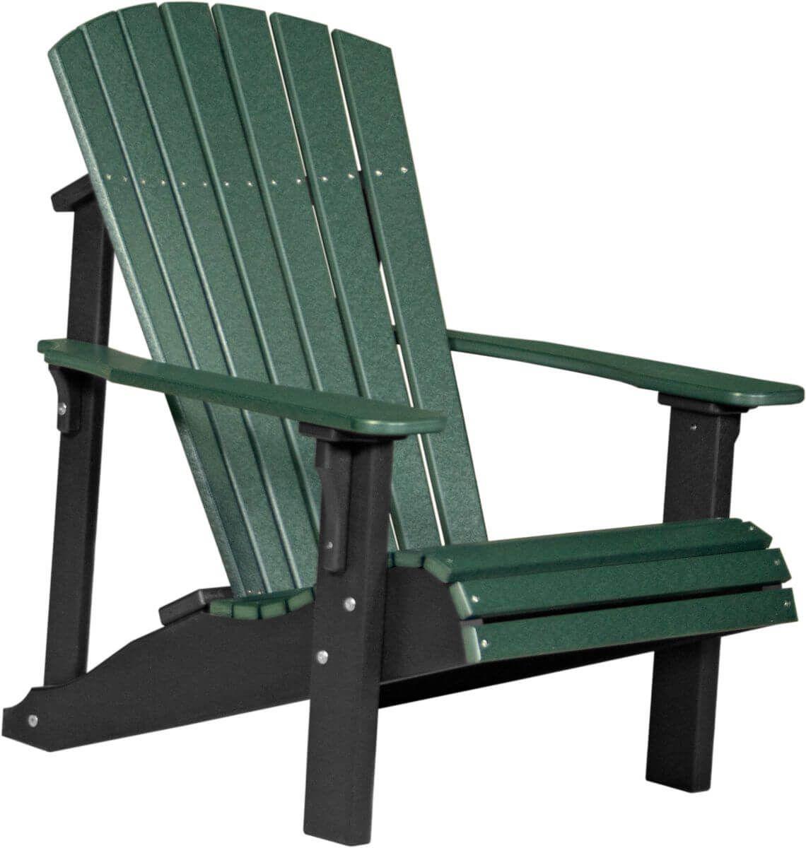 Green and Black Rockaway Adirondack Chair