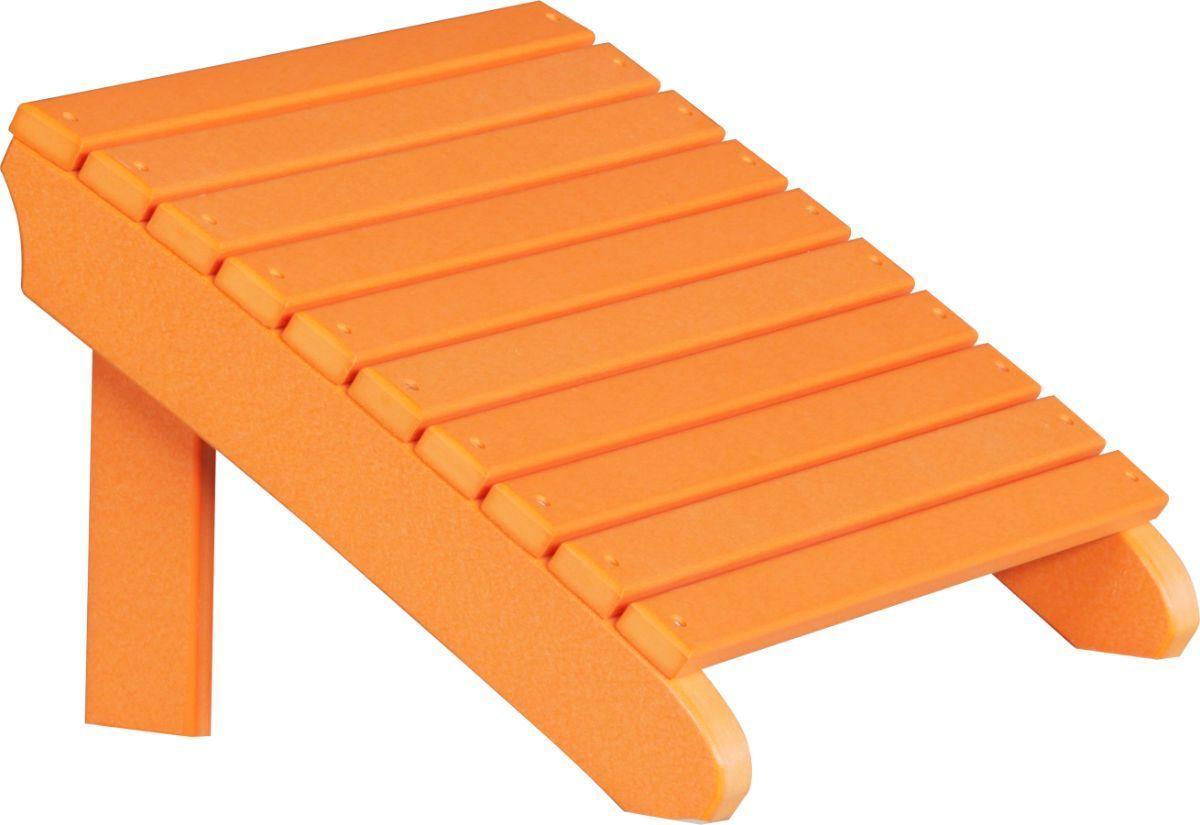 Tangerine Rockaway Adirondack Footrest