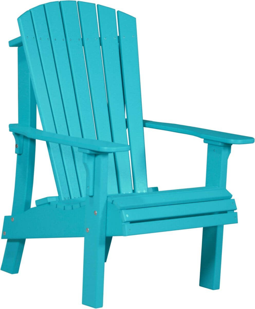 Aruba Blue Rockaway Highback Adirondack Chair
