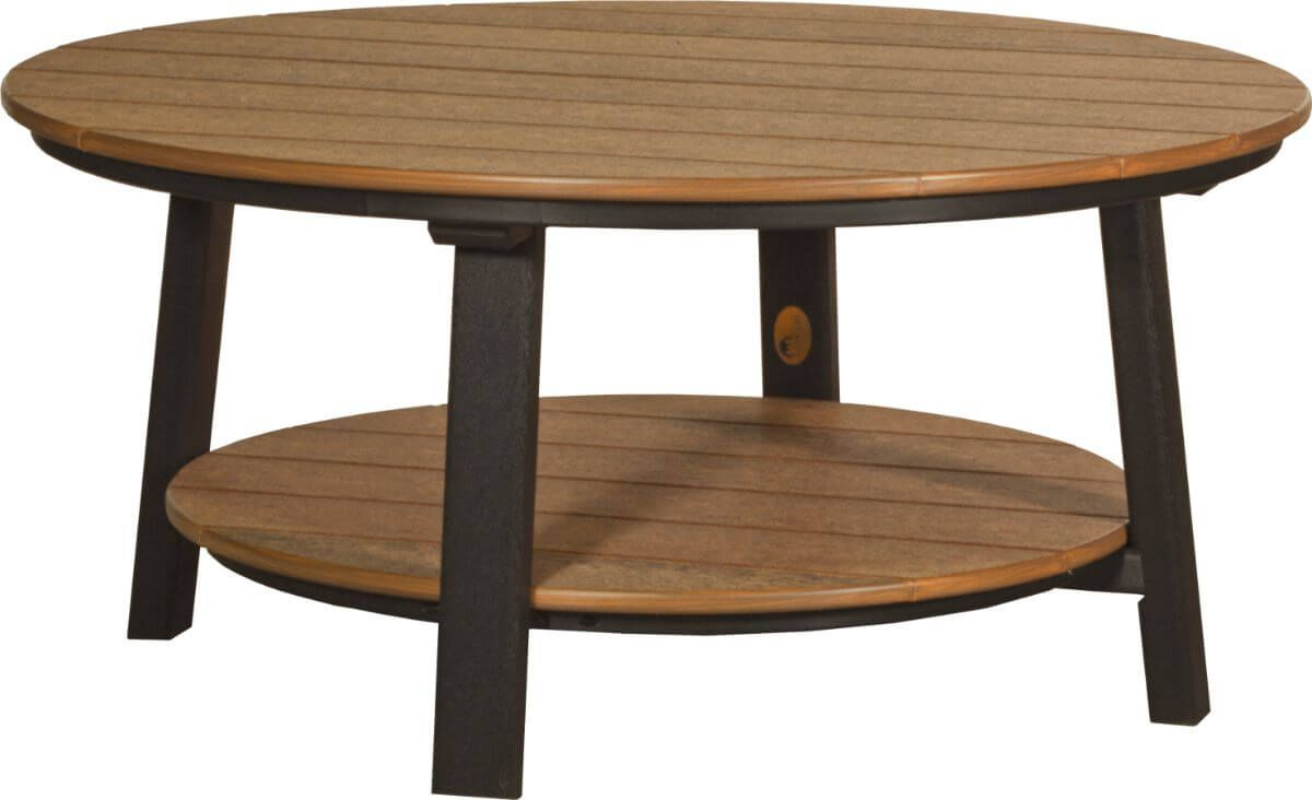 Antique Mahogany and Black Rockaway Outdoor Coffee Table