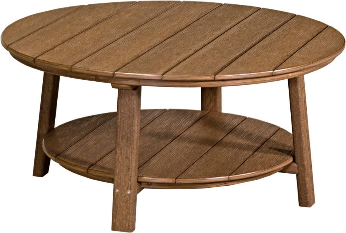 Antique Mahogany Rockaway Outdoor Coffee Table