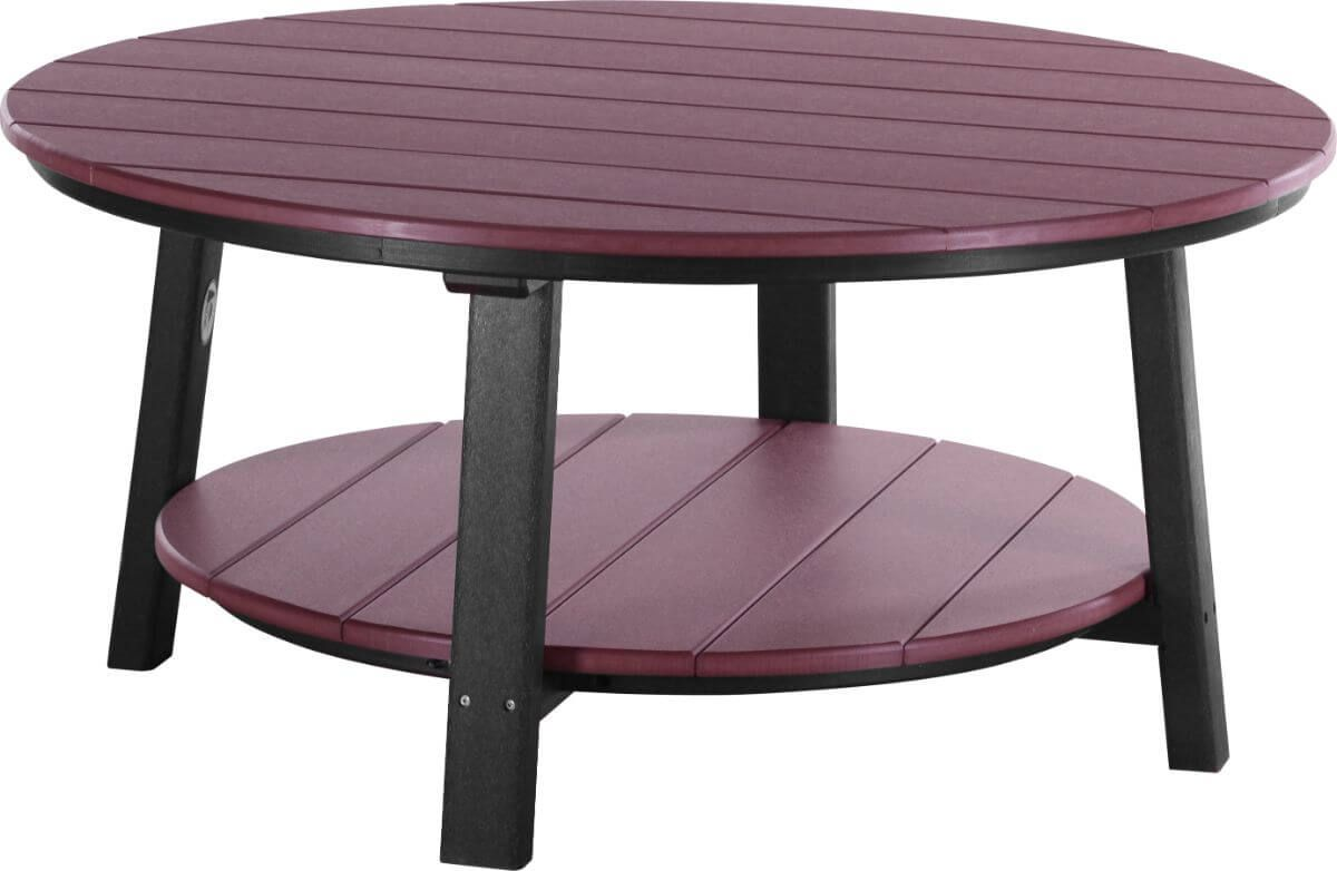 Cherrywood and Black Rockaway Outdoor Coffee Table