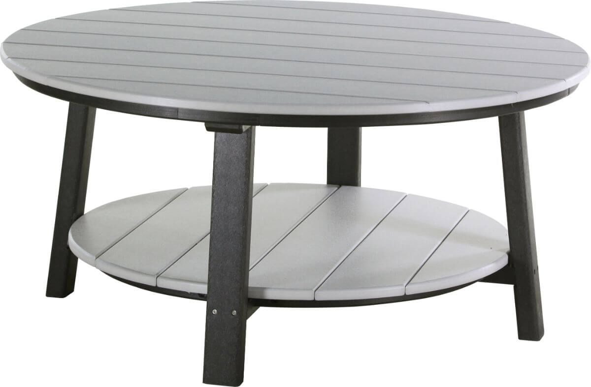 Dove Gray and Black Rockaway Outdoor Coffee Table