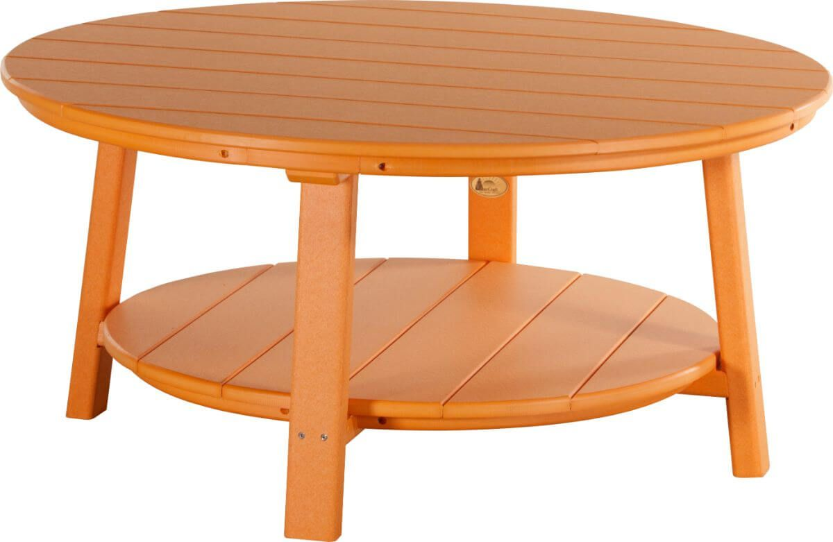 Tangerine Rockaway Outdoor Coffee Table