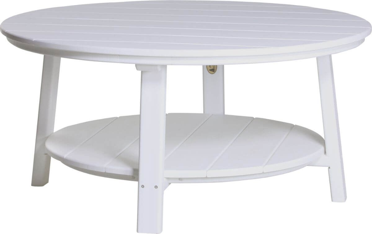White Rockaway Outdoor Coffee Table