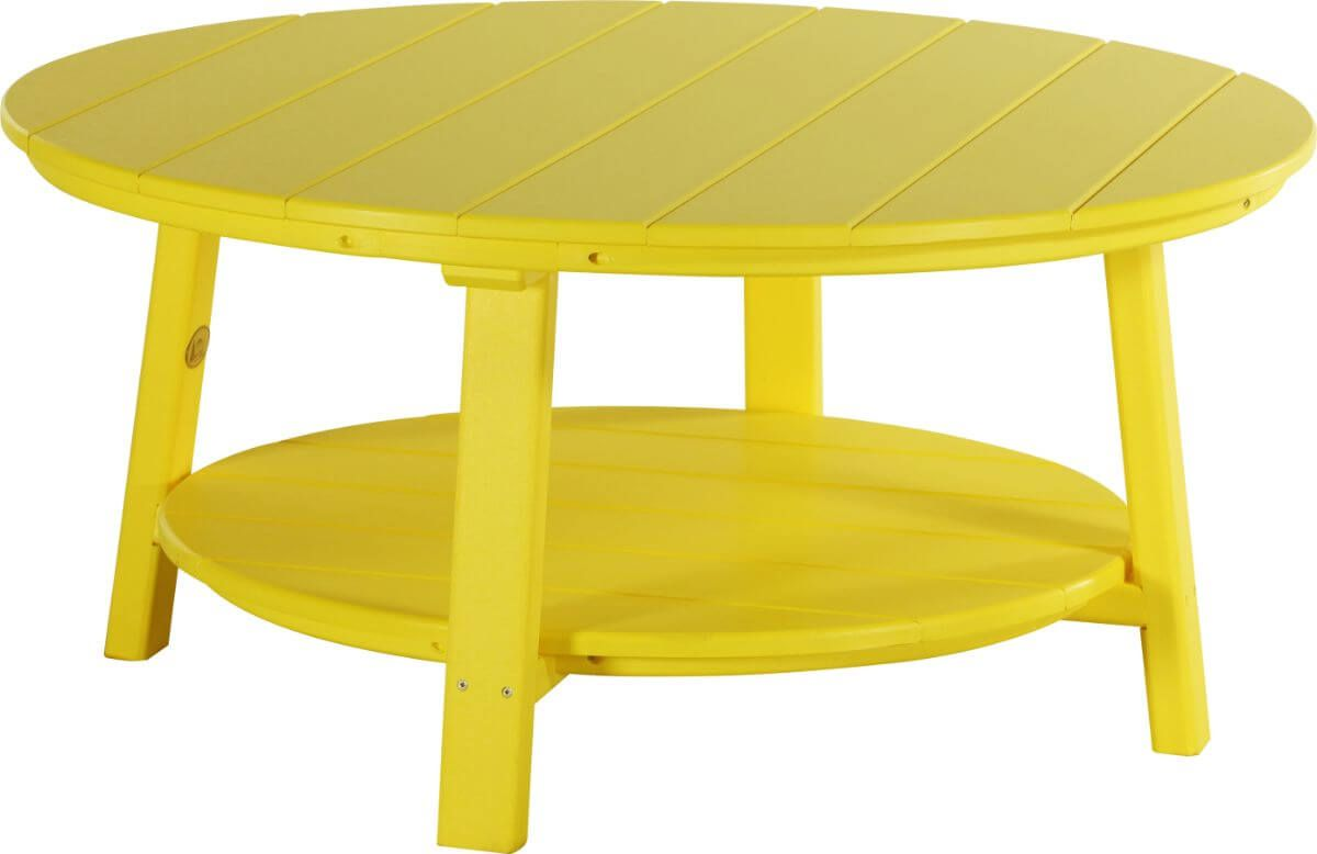 Yellow Rockaway Outdoor Coffee Table