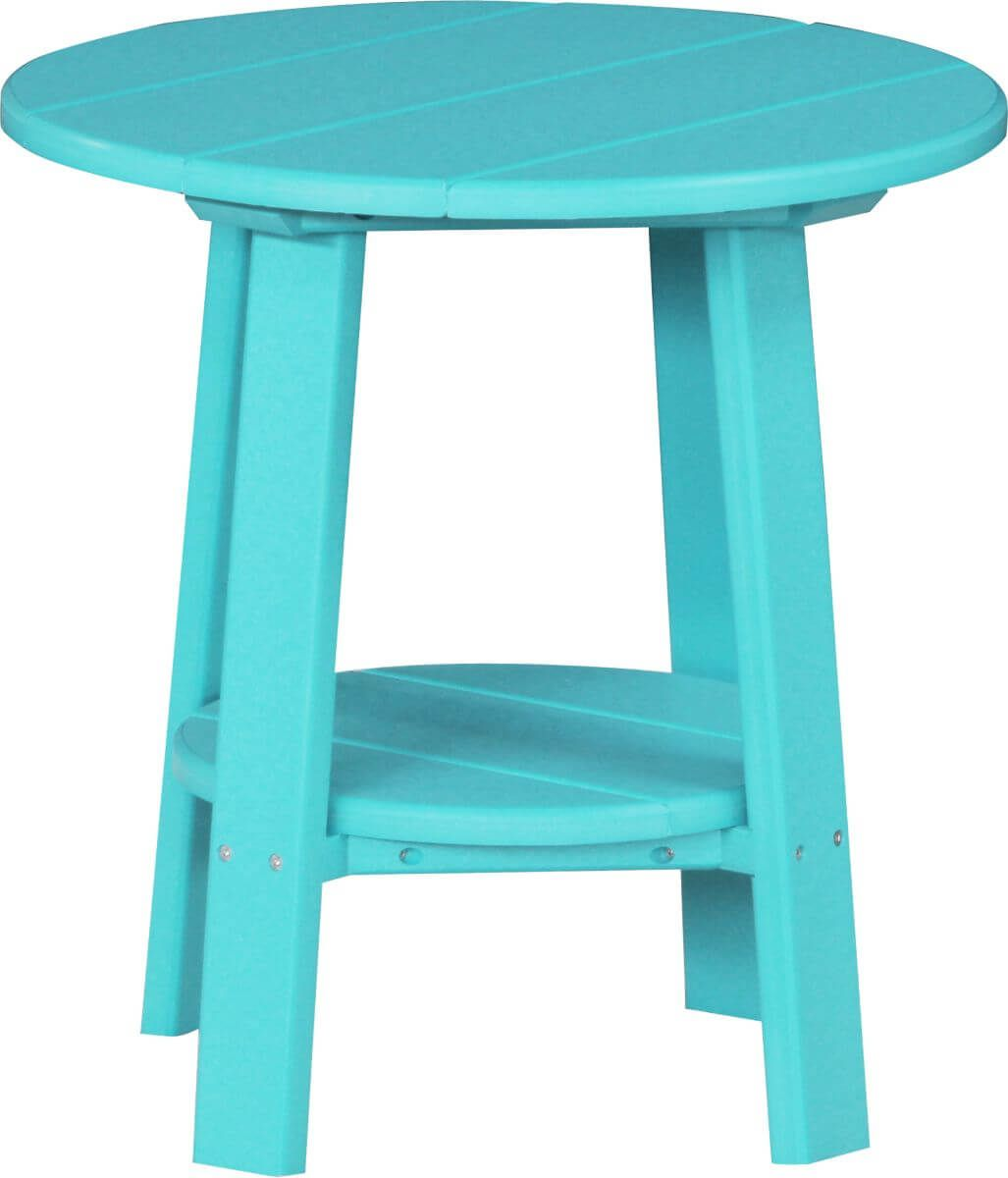 Aruba Blue Rockaway Outdoor Side Table