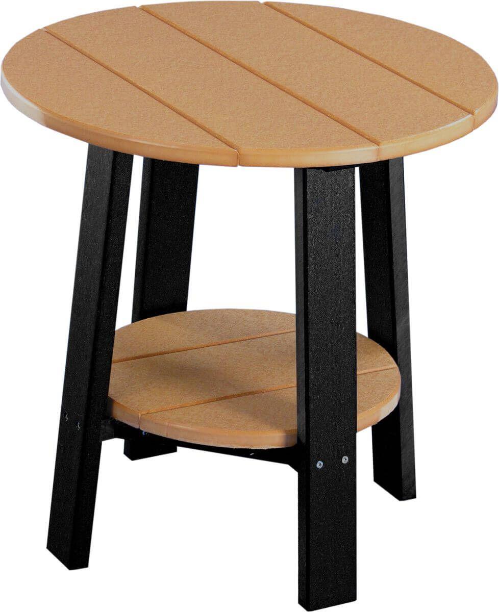 Cedar and Black Rockaway Outdoor Side Table