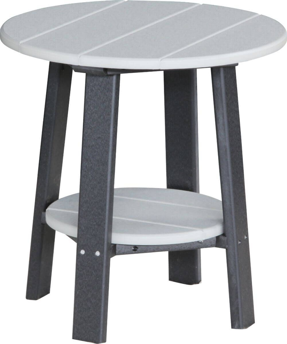 Dove Gray and Black Rockaway Outdoor Side Table