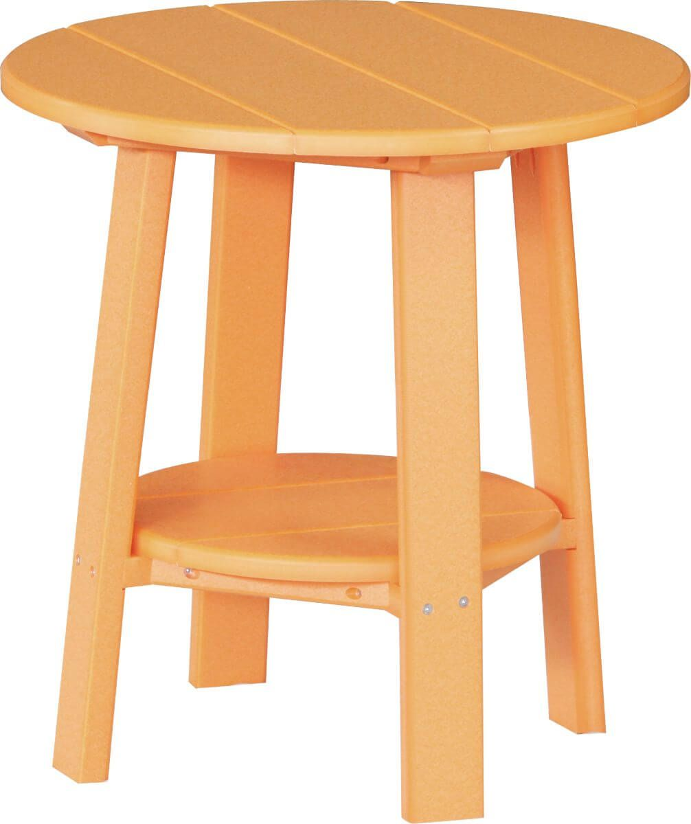 Tangerine Rockaway Outdoor Side Table