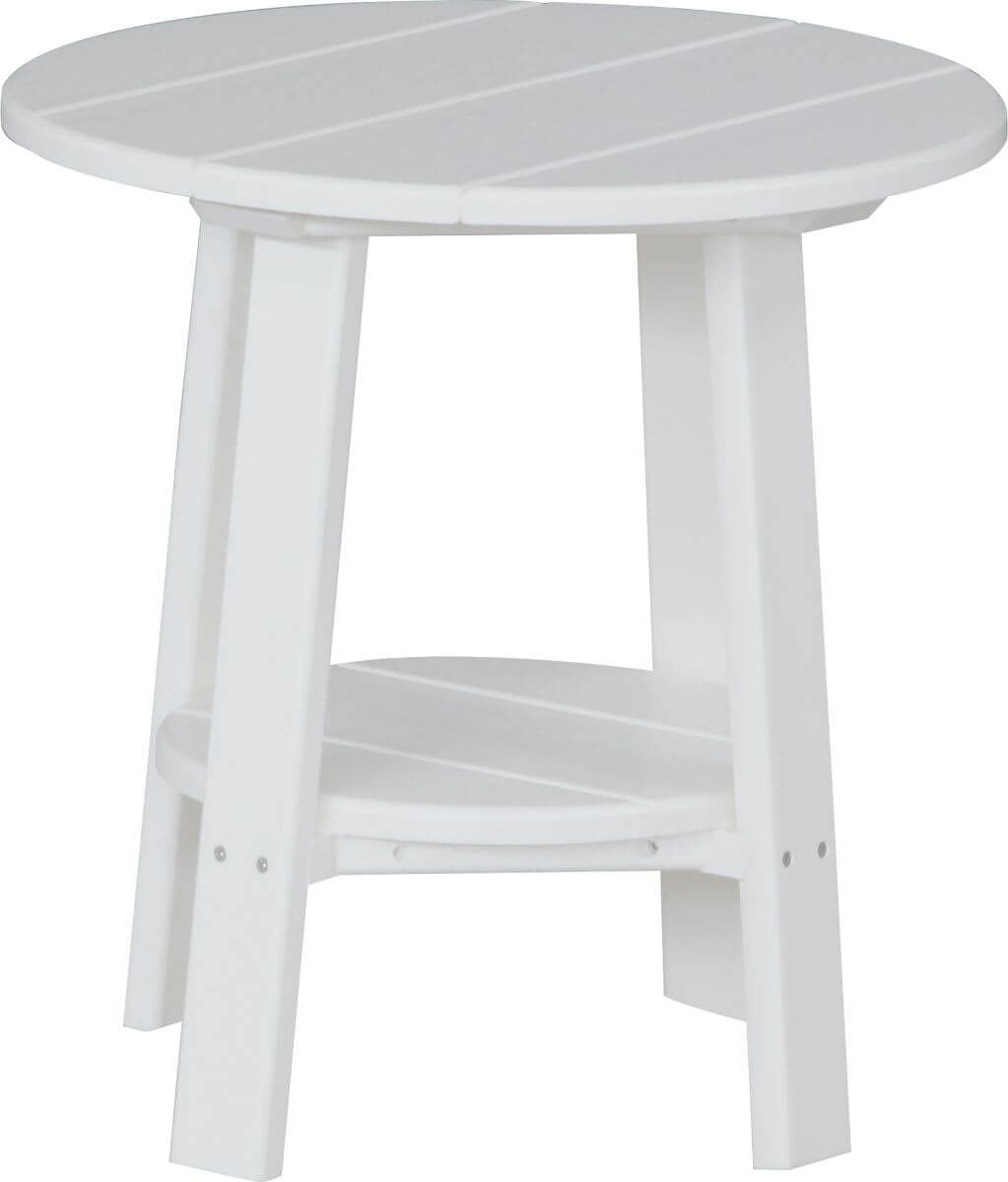 White Rockaway Outdoor Side Table