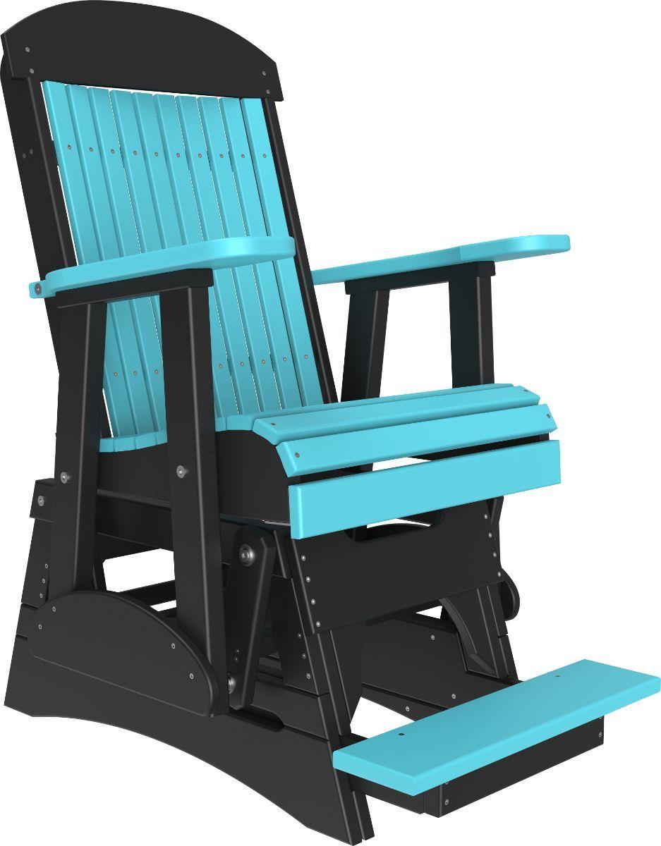 Aruba Blue and Black Stockton Balcony Glider
