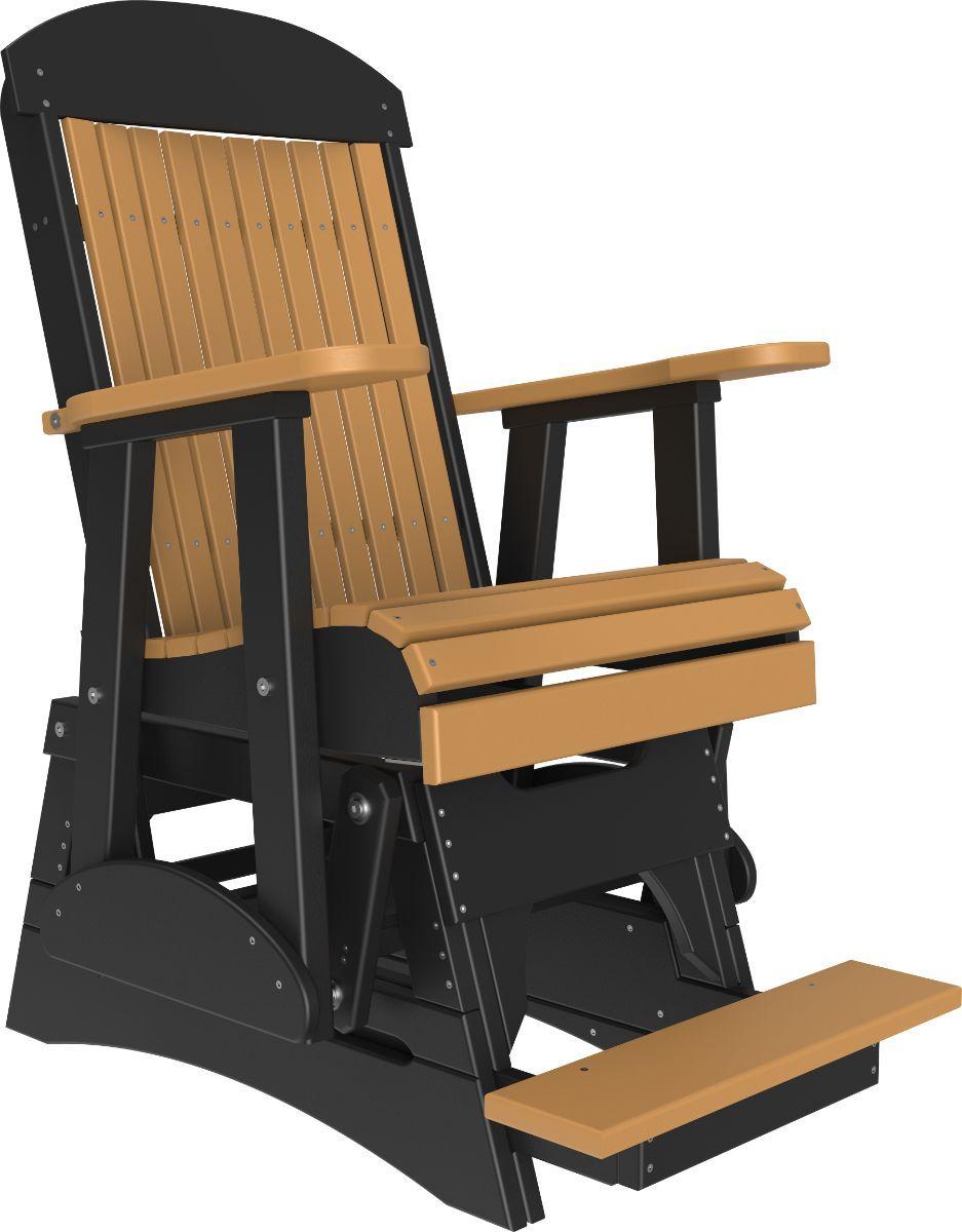 Cedar and Black Stockton Balcony Glider